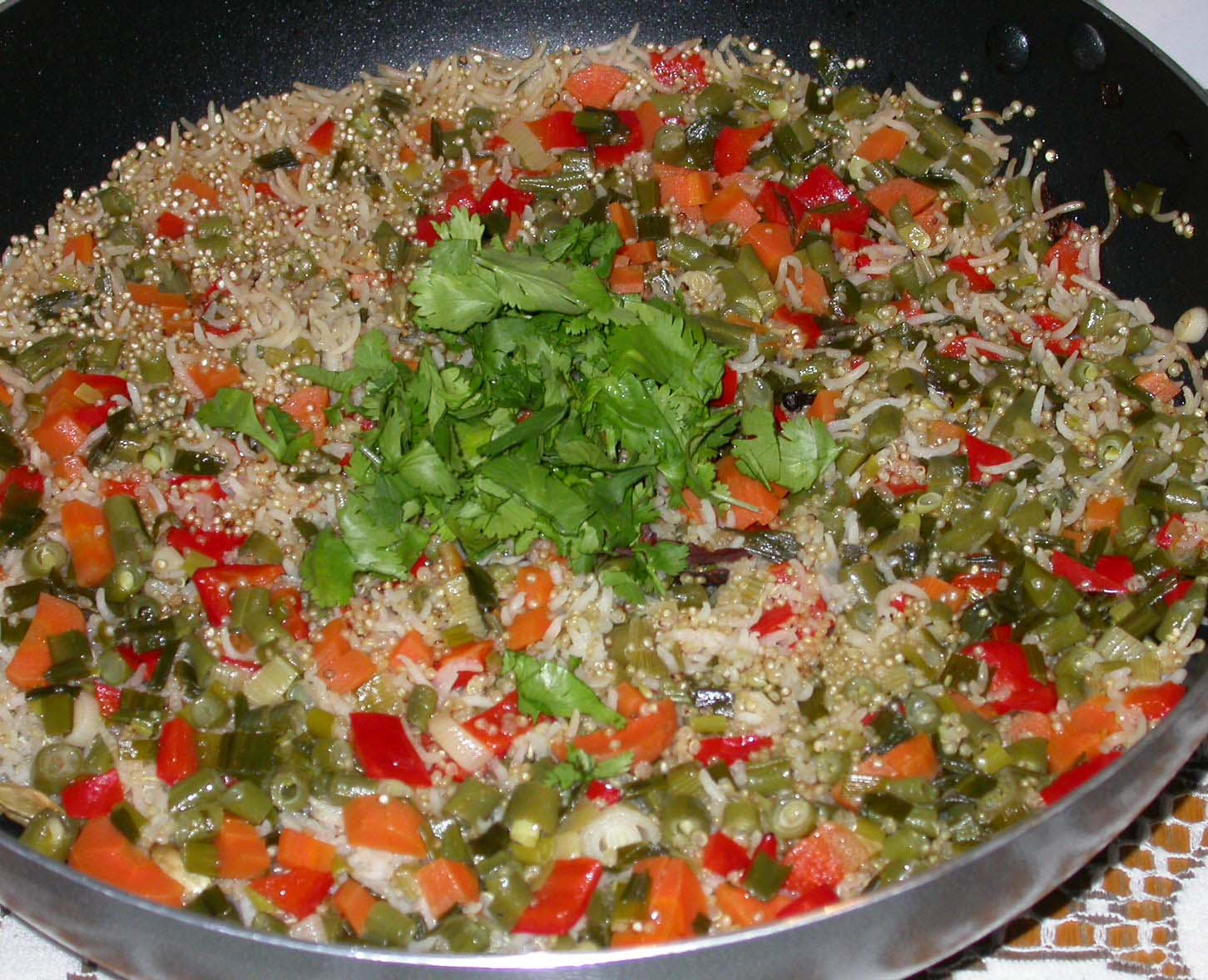 rice and quinoa pilaf