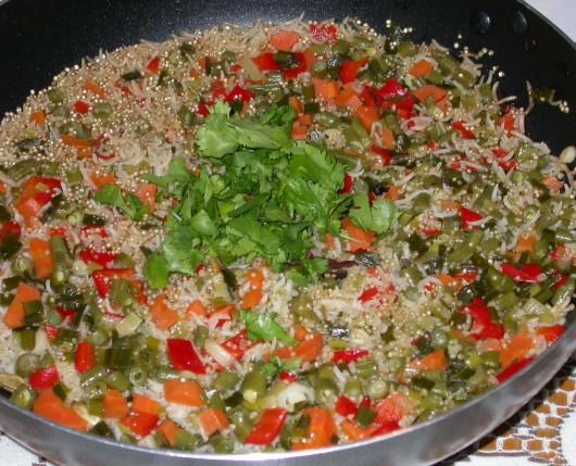 rice and quinoa pilaf