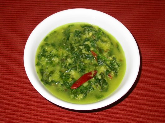 Moong Dal and Spinach Soup