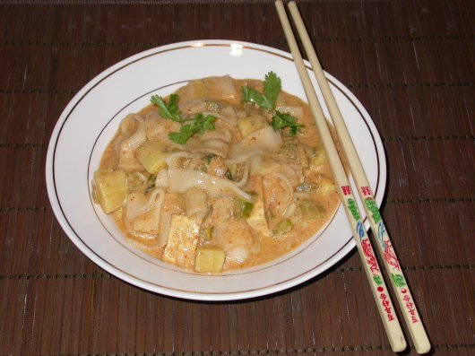 Rice Noodles in Coconut Milk