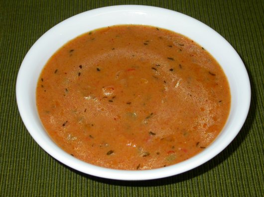 Roasted Bell Pepper Artichoke Bisque